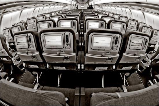 """Интерьер фантастического авиалайнера Airbus A330-200  """"Е. Светланов """" ."""